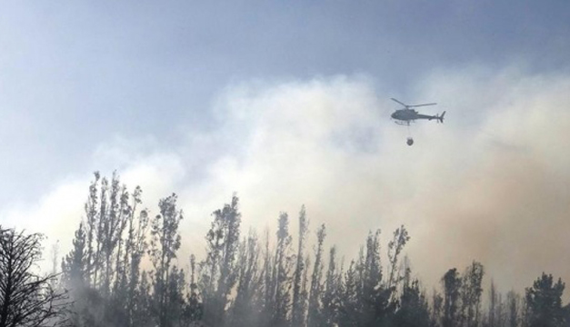 Foto de uno de los incendios forestales en Chile. EFE
