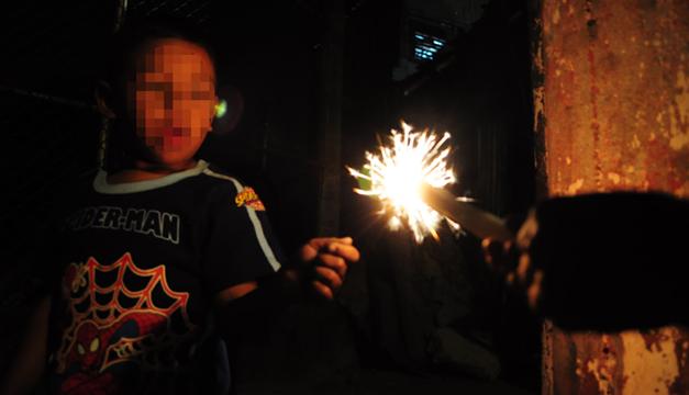 Menor de 17 años se quemó con un cohetillo/ DEM