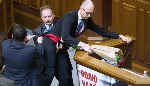 Pelea-Parlamento Ucraniano
