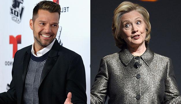 Ricky-Martin-Hillary-Clinton