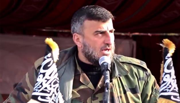Zahran Alush durante un discurso de graduación en Ghouta, a las afueras de Damasco, Siria. EFE