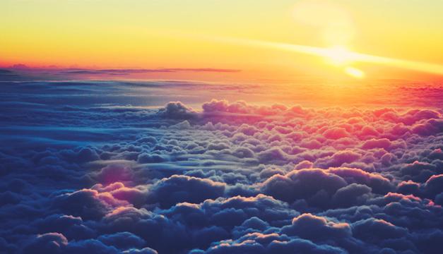 Agua dulce de las nubes