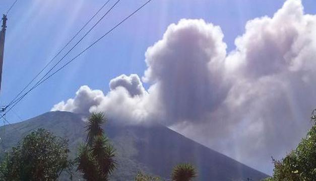 Foto del volcán Chaparrastique. DEM