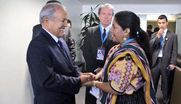 Foto: Presidente Cerén junto a la vicepresidenta de Guatema, Marta Estrada. Cortesía Presidencia de El Salvador.