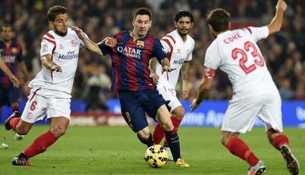 Barcelona-Sevilla-Messi-Banega