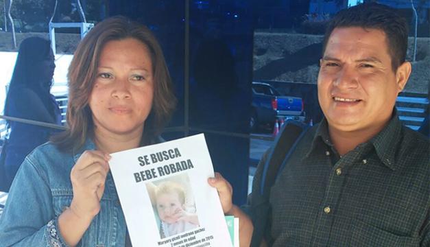 Padres de la bebé. Foto: Diario El Mundo.