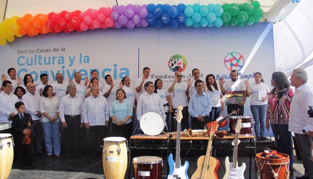 Gobierno reinaugura Casa de Cultura y Convivencia en San Vicente.