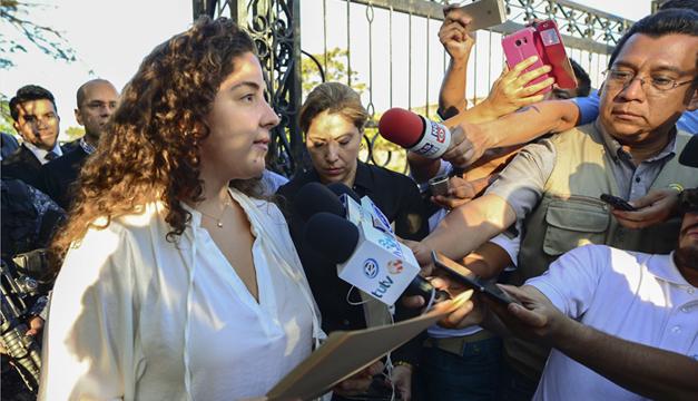 Gabriela Flores, hija del Francisco Flores. Agencia/EFE