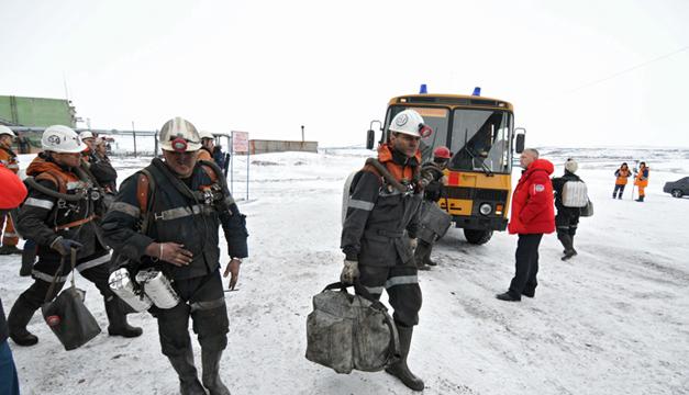 Mineros rusia-EFE