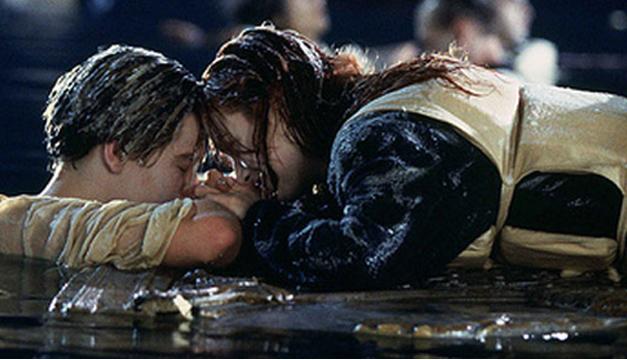 Escena de la película, Titanic.