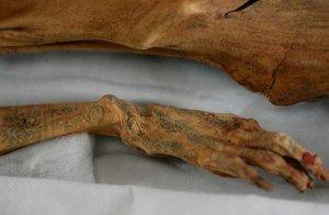 Tatuajes de la sacerdotiza Amunet. Cortesía/Agencias