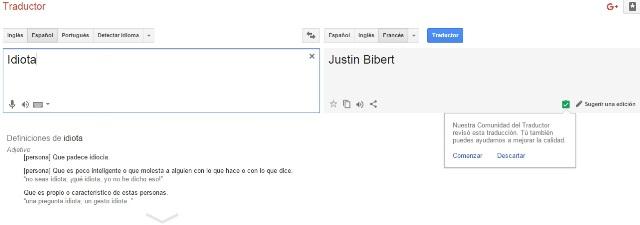 Error de google translate