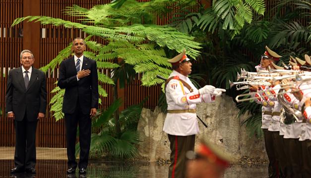 Obama y Castro himmo nacional