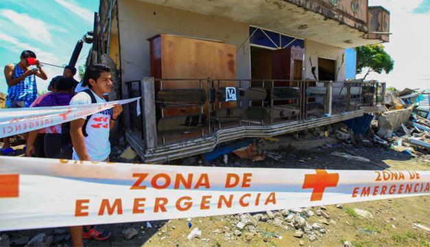 Fotografía sobre los daños causados por terremoto. Agencia EFE.