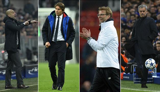 Guardiola,-Conte,-Klopp-y-Mourinho