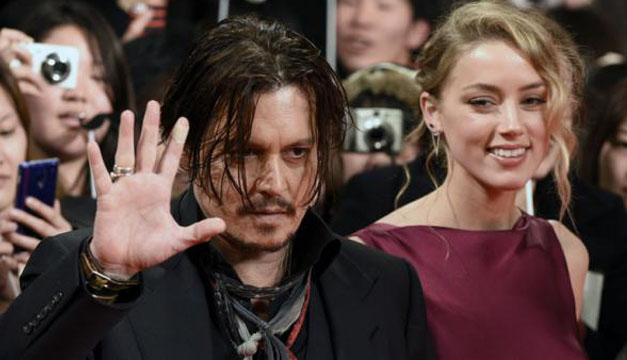 Johnny Depp y su esposa