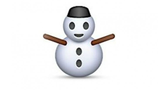 Muneco de nieve-Emoticon
