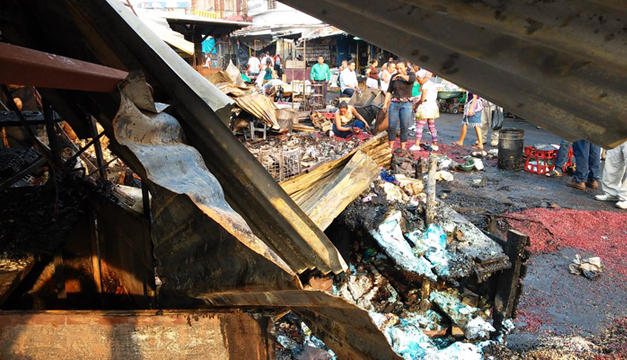 incendio en mercado central