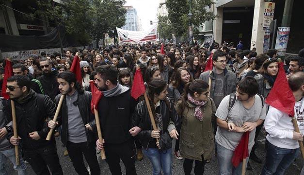 manifestacion en grecia por pensiones-efe