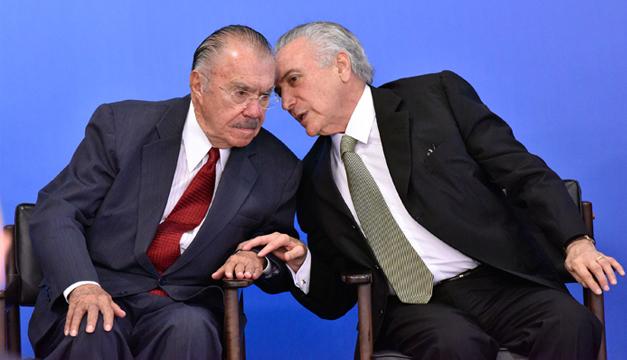 Fotografía: De izquierda a derecha, Michel Temer junto a José Sarney. Agencia EFE .