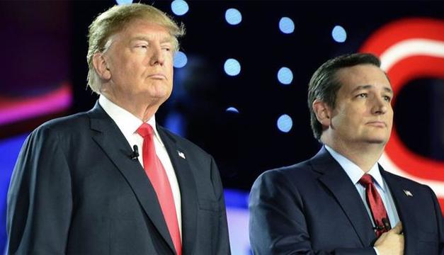 Fotografía: Ted Cruz acompañado de Donald Trump.