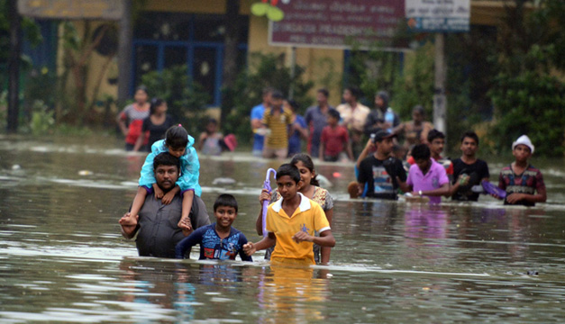 lluvias en Sri Lanka -xinhua