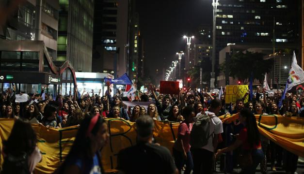 manifestaciones en brasil-xinhua