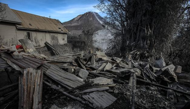 volcan sumatra-Xinhua