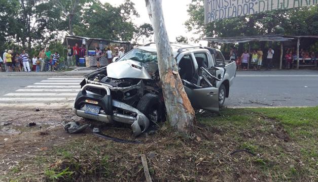 Escena del accidente. Fotografía: Bomberos de El Salvador.