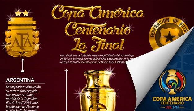 INFOGRAFÍA l Lo que brilla entre los contrincantes de la Final de la Copa América Centenario