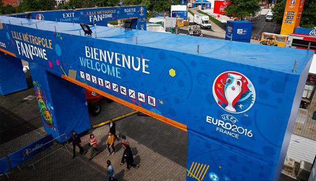 Fotografía: Zona de aficionados de la Eurocopa 2016.