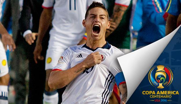 2-1. James mete en cuartos a Colombia y Paraguay va contra EE.UU.