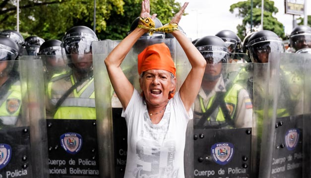 manifestacion en Venezuela-efe