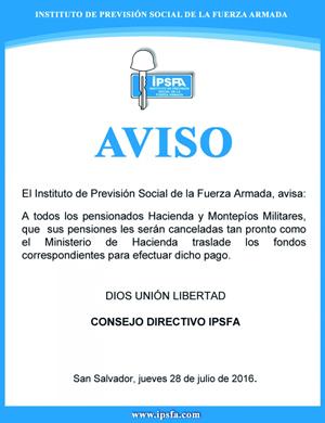 AVISO-IPSFA