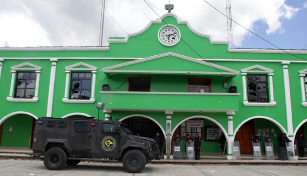 Fotografía: Palacio municipal del municipio de San Juan Chamula en Chiapas (México), donde sujetos armados asesinaron al alcalde y al síndico . EFE