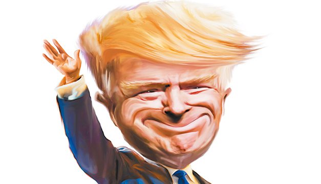 Donald-Trump-Caricatura