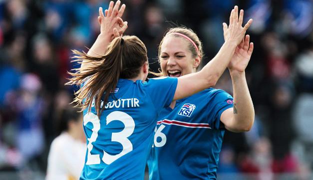 La delantera Thorsteinsdottir guía a la selección femenina islandesa a su tercera Eurocopa. /FIFA