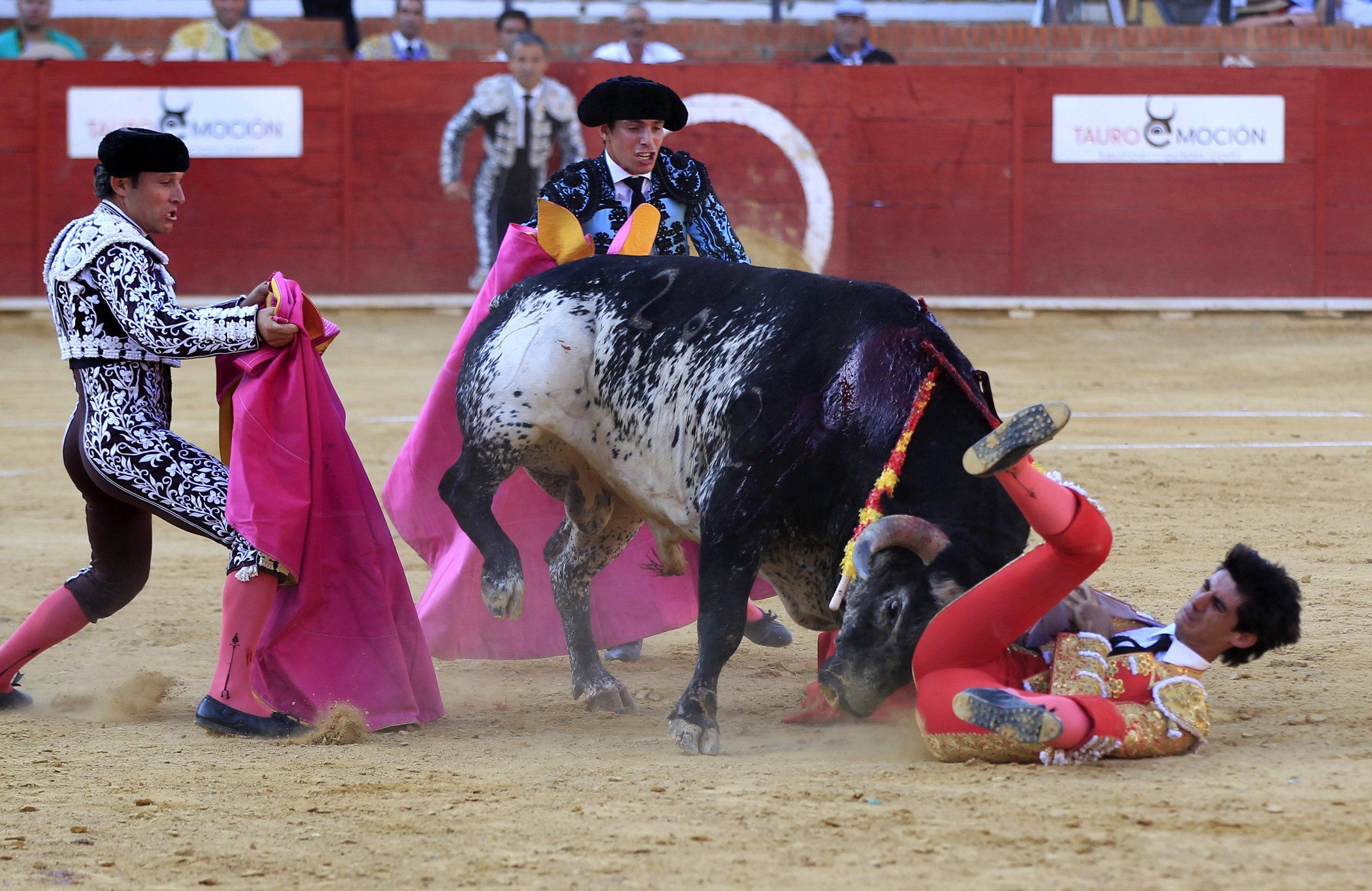GRA317. TERUEL, 09/07/2016.- El torero segoviano de 29 años Víctor Barrio (d) ha fallecido esta tarde en la plaza de toros de Teruel, en la Feria del Ángel, tras sufrir una grave cogida en el tercer toro de la tarde. EFE/Antonio García
