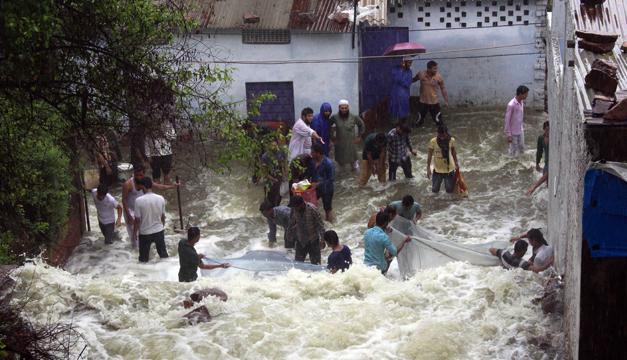 inundacion india-Xinhua