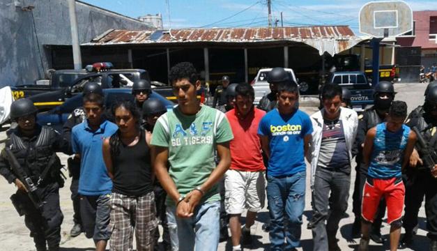 Integrantes de la banda. Fotografía: PNC Guatemala.