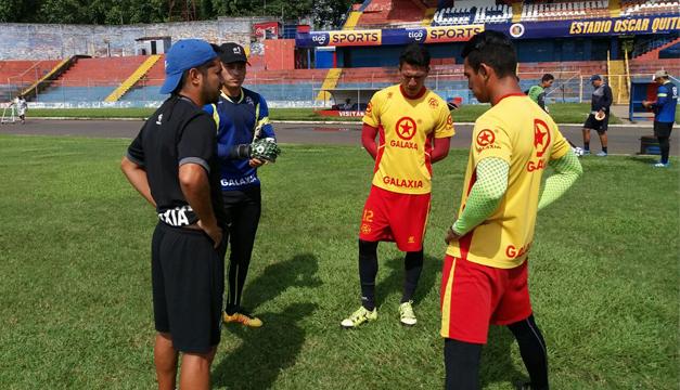 Cortesía: CD FAS/ Contreras, García y Mendoza se unieron ayer al CD FAS