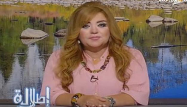 Fotografía de una de las presentadoras.