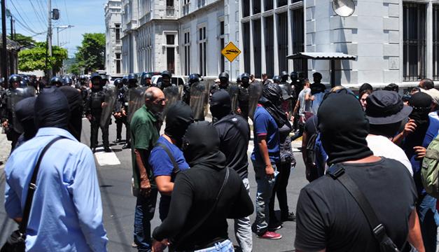 Protestas-policias
