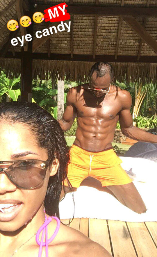 Usain Bolt new fiancé Kasi Bennett on holiday