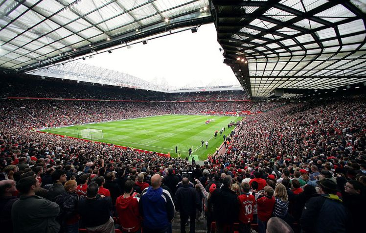 MANCHESTER, ENGLAND - OCTOBER 27:  A wide shot of the interior of Old Trafford ahead of the Barclays FA Premier League match between Manchester United and Middlesbrough at Old Trafford on October 27 2007, in Manchester, England. (Photo by Tom Purslow/Manchester United via Getty Images)