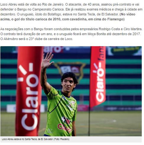 El 'loco' Abreu vuelve al fútbol brasileño con 40 años