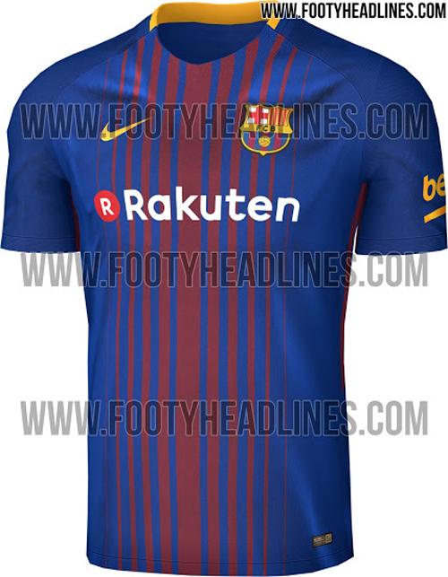 Foto de la nueva camiseta del Barcelona para la temporada 2017-2018. 9eb3a335ef4