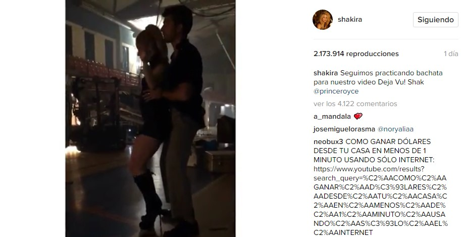 Shakira presume a su mejor pareja de baile