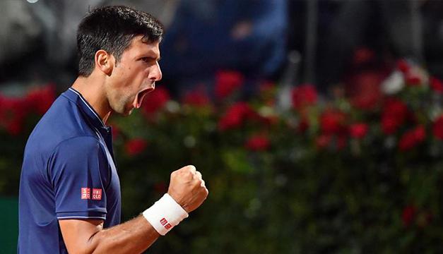 Djokovic-Del Potro, interrumpido por lluvia en los cuartos de Roma