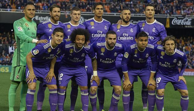 Resultado de imagen de Real Madrid de morado